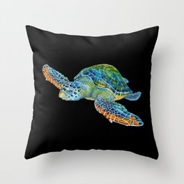 Sea Turtle 4 Throw Pillow