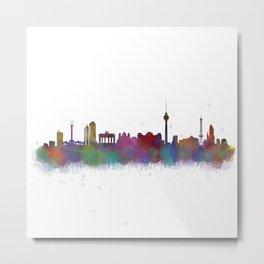 Berlin City Skyline HQ4 Metal Print