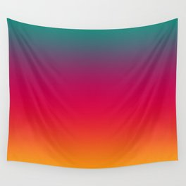 Poseidon - Classic Colorful Warm Abstract Minimal Retro Style Color Gradient Wall Tapestry