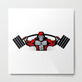 Strong monkey athlete Metal Print
