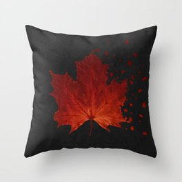 Maple Leaf Dispersion Effect Throw Pillow