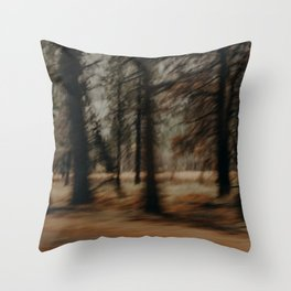 Spooky Forest Trees Throw Pillow