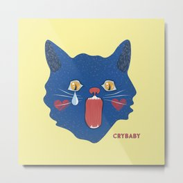 Crybaby Kitty Metal Print