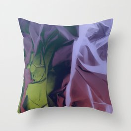 Deep Purple and Green Abstract Throw Pillow