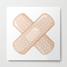 Get Well Bandaid Metal Print