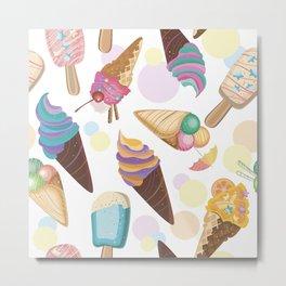 Ice Cream Everywhere Metal Print
