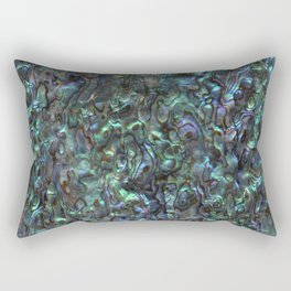 Abalone Shell | Paua Shell | Sea Shells | Patterns in Nature | Natural | Rectangular Pillow