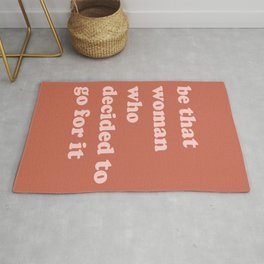 Be The Woman | Terracotta Rug