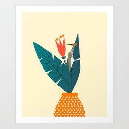 Curious woodpecker Art Print