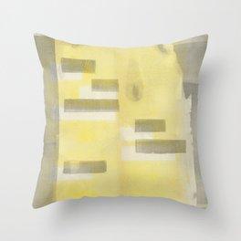 Stasis Gray & Gold 1 Throw Pillow