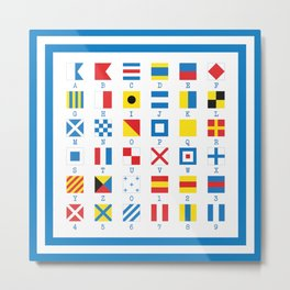Nautical Flags Maritime Signals Alphabet Metal Print