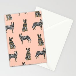 Australian Cattle Dog blue heeler dog breed gifts for cattle dog owners Stationery Cards