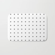 Black Plus on White /// www.pencilmeinstationery.com Bath Mat