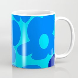 Blue Retro Flowers Pastel Blue Background #decor #society6 #buyart Coffee Mug