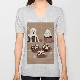 Ghost Spooky Desserts Unisex V-Neck
