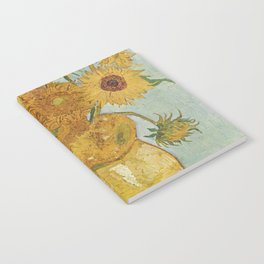 Vase with Twelve Sunflowers, Van Gogh Notebook