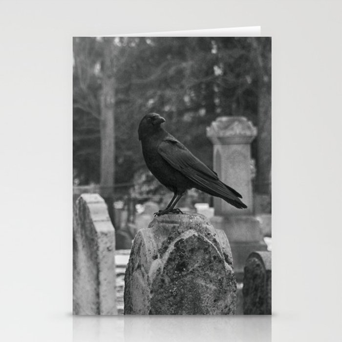 Crow In Shades Of Stone Stationery Cards