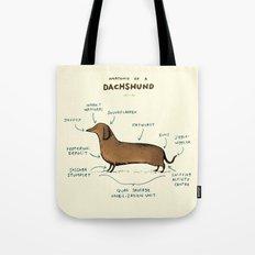 Anatomy of a Dachshund Tote Bag