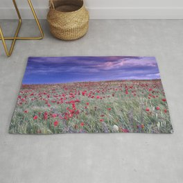 Poppies. Purple Sunset. Sierra Arana Rug