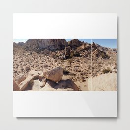From Above in Four Part; Joshua Tree National Park Metal Print
