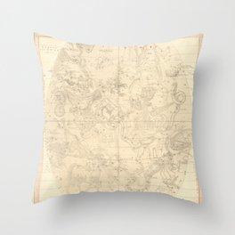 Burritt's Constellations (July, August, September) (1856) Throw Pillow