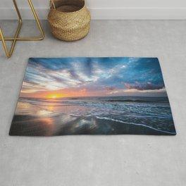 Daybreak at Hilton Head - Sunrise Along Beach at Hilton Head Island in South Carolina Rug
