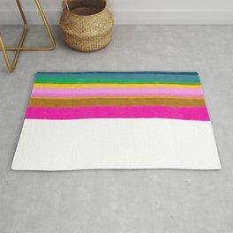 Design lines on white Rug