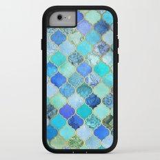 Cobalt Blue, Aqua & Gold Decorative Moroccan Tile Pattern iPhone 7 Adventure Case