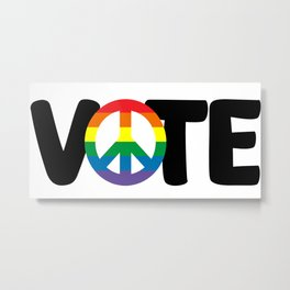 Vote For All Metal Print