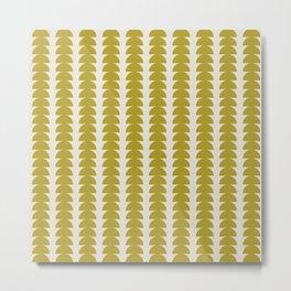 Maude Pattern - Moss Green Metal Print