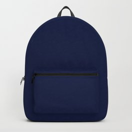 Navy Blue Minimalist Solid Color Block Backpack