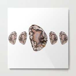 Natural Agate Cluster Metal Print