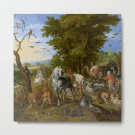 "Jan Brueghel the Elder ""The Entry of the Animals into Noah's Ark"" Metal Print"
