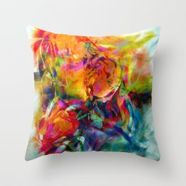 abstract about wine, flowers, party Throw Pillow