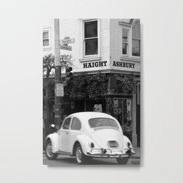 Haight Ashbury Beetle Metal Print