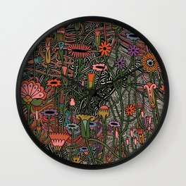 Silvers On Her Fingers Wall Clock
