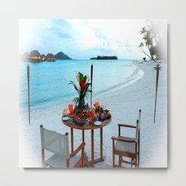 Bora Bora Beach Breakfast Tahiti Metal Print