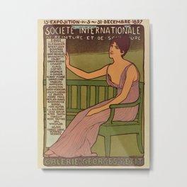 Vintage international painting expo Paris 1897 Metal Print