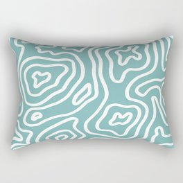 Topographic Abstract | Turquoise Rectangular Pillow