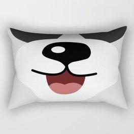 Cute Lovely Panda Cartoon Smile Face Kids Rectangular Pillow