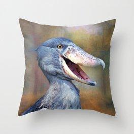 The Shoebill Throw Pillow