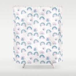 Rainbow Chroma Pastel Shower Curtain