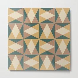 Mid Century Modern Geometric Pattern 550 Metal Print