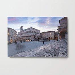 View of Piazza IV Novembre, Perugia, Umbria, Italy Metal Print