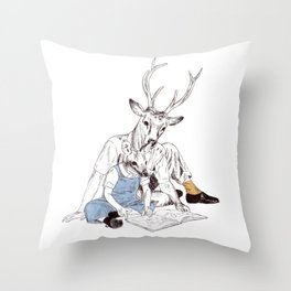 Bestial father and son Throw Pillow