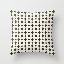 Vintage Jewels - Black Throw Pillow