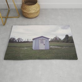 little shed in the backyard Rug