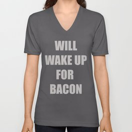 Funny Bacon Foodie T-shirt Bacon Lovers Tee Unisex V-Neck