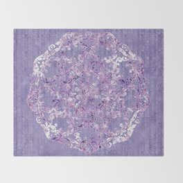 A Taste of Lilac Wine Throw Blanket