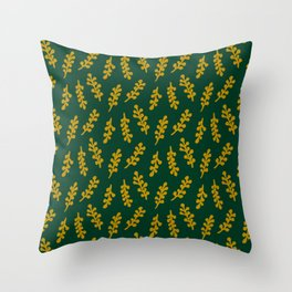 Twiglet - Squire Green Throw Pillow